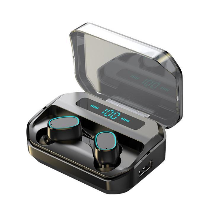 TWS M8V Bluetooth Manos libres Auricular barato TWS inalámbrica a prueba de agua IPX5 Pantalla LED de alta fidelidad Bass auriculares con la caja de carga