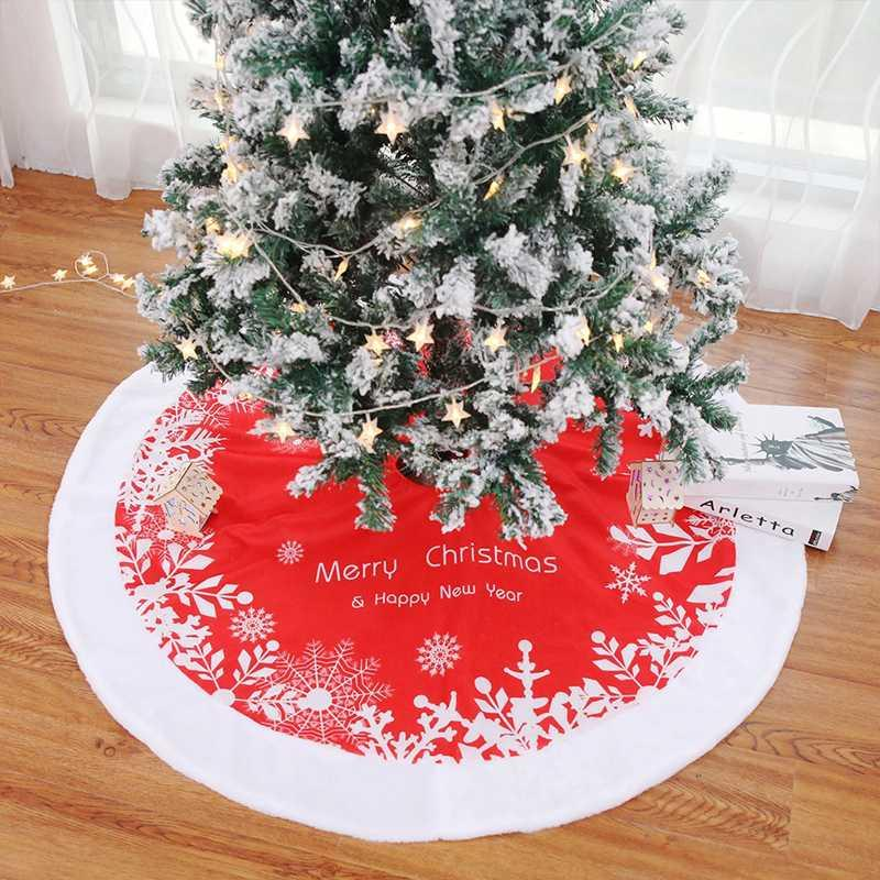 زينة عيد الميلاد تنورة شجرة 90/120 سنتيمتر ندفة الثلج سانتا كلوز الطابق السجاد حصيرة للمنزل عيد الميلاد التنانير نافيداد