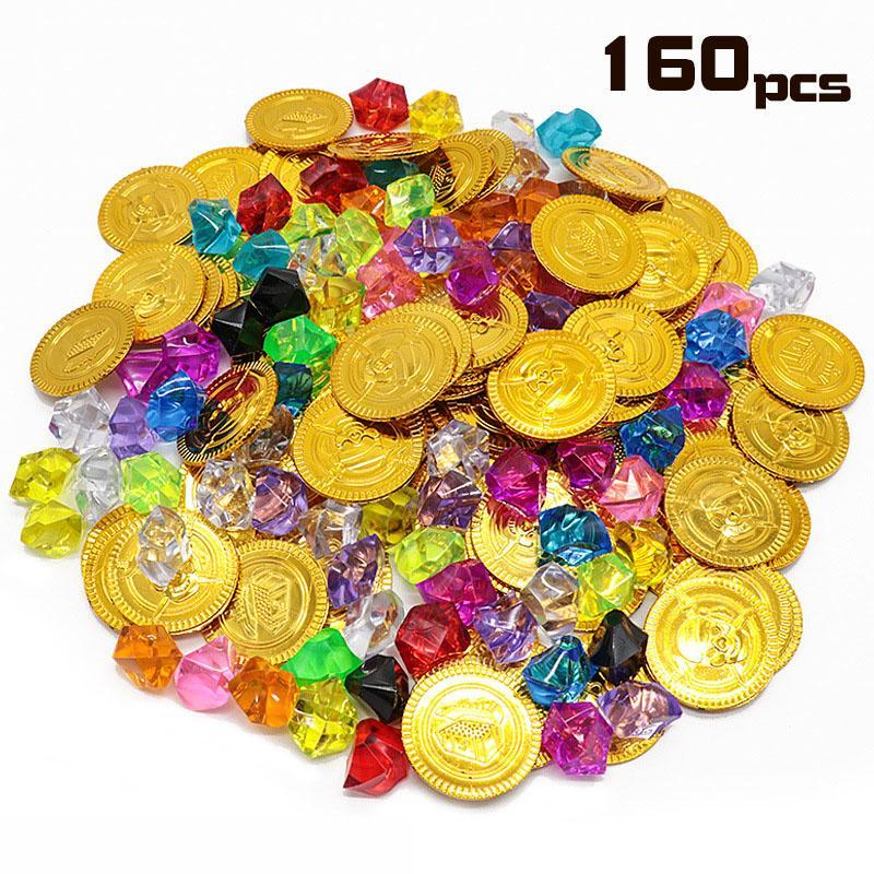 الجملة الذهب عملة الأحجار الكريمة سلسلة اللعب النشاط رسم الدعائم لعبة الأطفال الدعائم هالوين هدايا عيد الميلاد