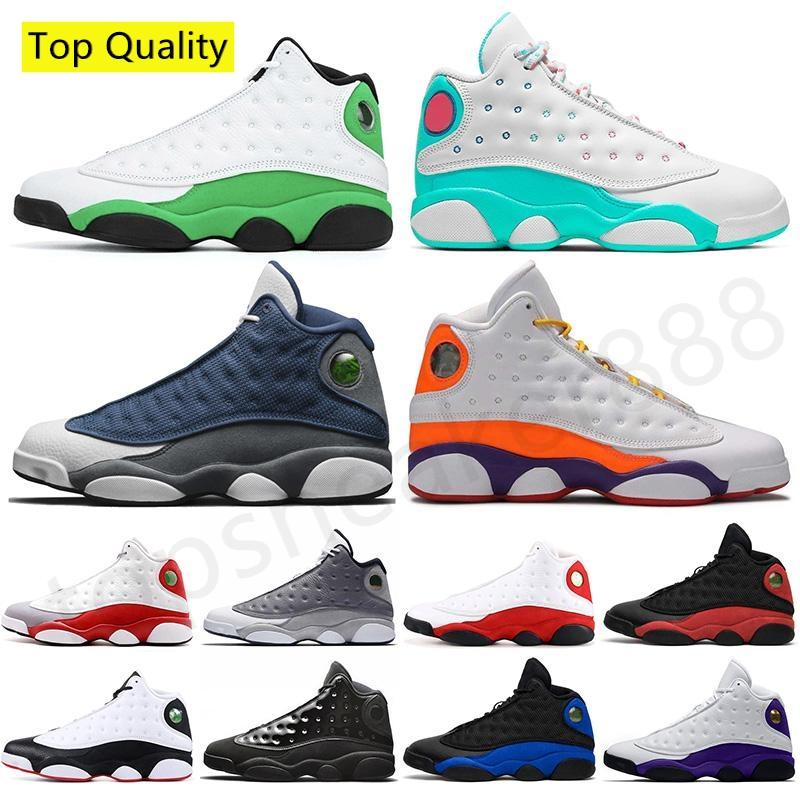 أعلى جودة 2020 أحذية كرة السلة للرجال عالية OG 13S المحكمة الأرجواني ولديك لعبة القط الاسود ميلو القذرة الرياضة ولدت jumpman رجل إمرأة حذاء رياضة الرياضية