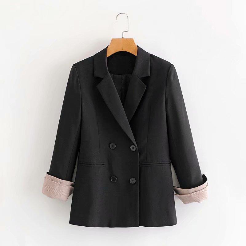 Kadın Ceket 2020 Sonbahar Kış High Street Elemanları Günlük Moda Bayan Takım Elbise Stil Sözleşmeli Boyutu: S-L