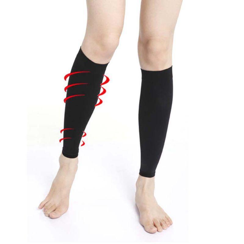 1 paio Slim sfogare la Leg Vitello manicotto di sostegno del gancio Spandex compressione varicose Calze nero / beige 2020 nuovo arrivo per le donne gli uomini