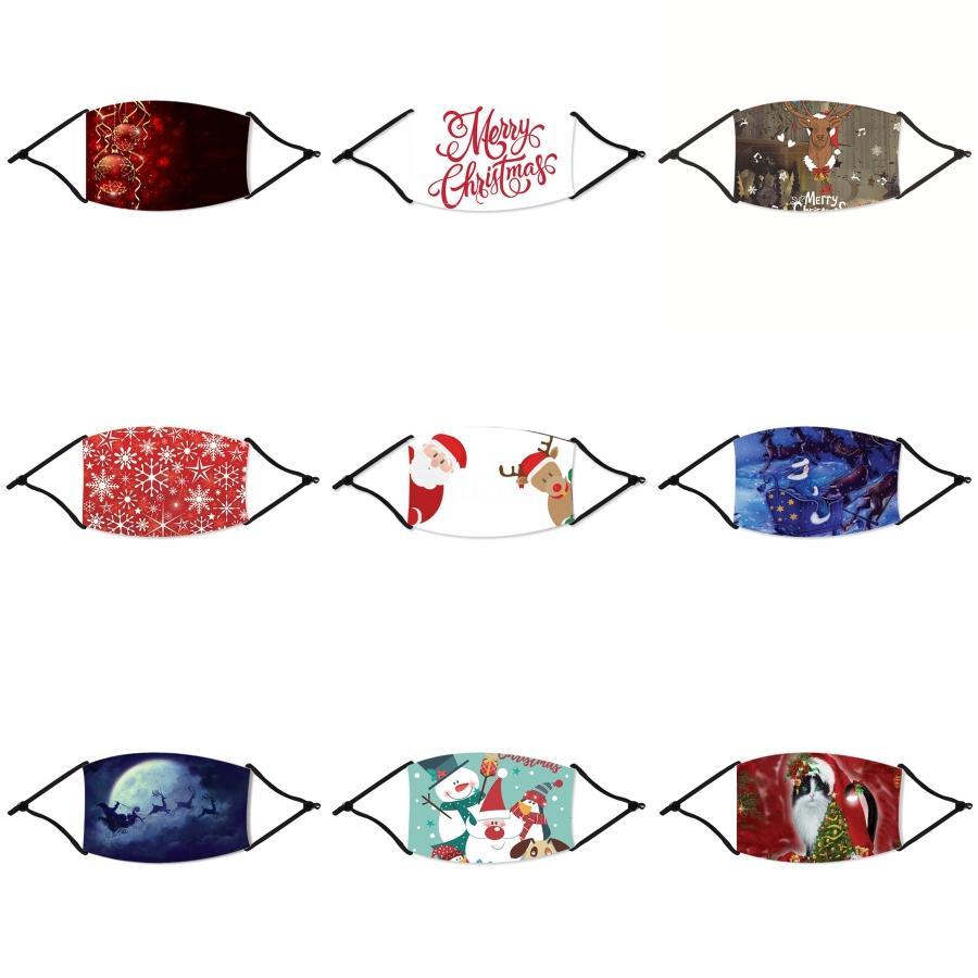5 cores e de Natal Rosto Crianças Máscara Máscaras Natal Poeira reutilizável Anti respirável Máscaras Ice Silk Natal Cotton ZZA2411 # 825