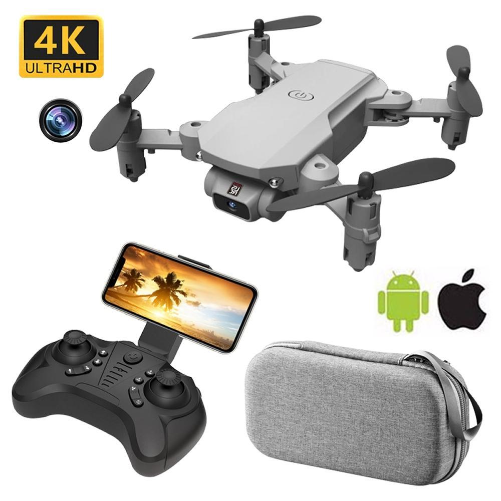 4K HD 카메라와 함께 미니 RC 무인 항공기 와이파이 FPV UAV 공중 사진 헬리콥터 접이식 LED 빛 Quadrocopter 품질 장난감 aosst