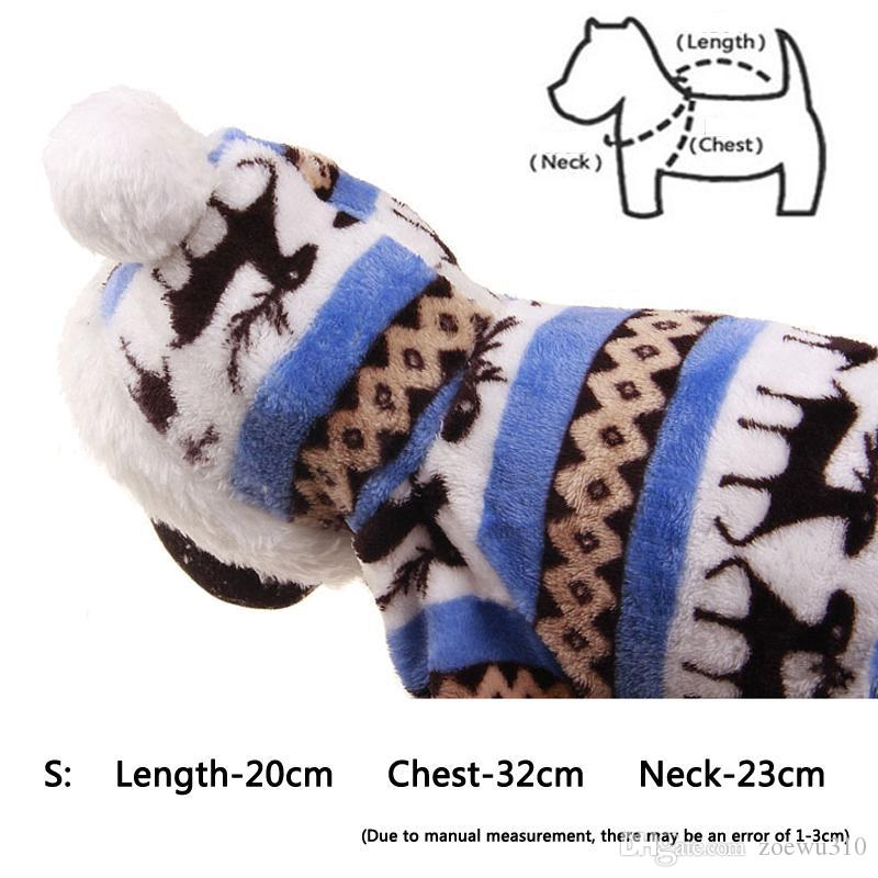 Winter Pet Одежда для собак Мода Pet Puppy Теплый ватки Одежда Олень Снежинка куртка Одежда Маленькая собака пальто Толстовки S DBC DH0984