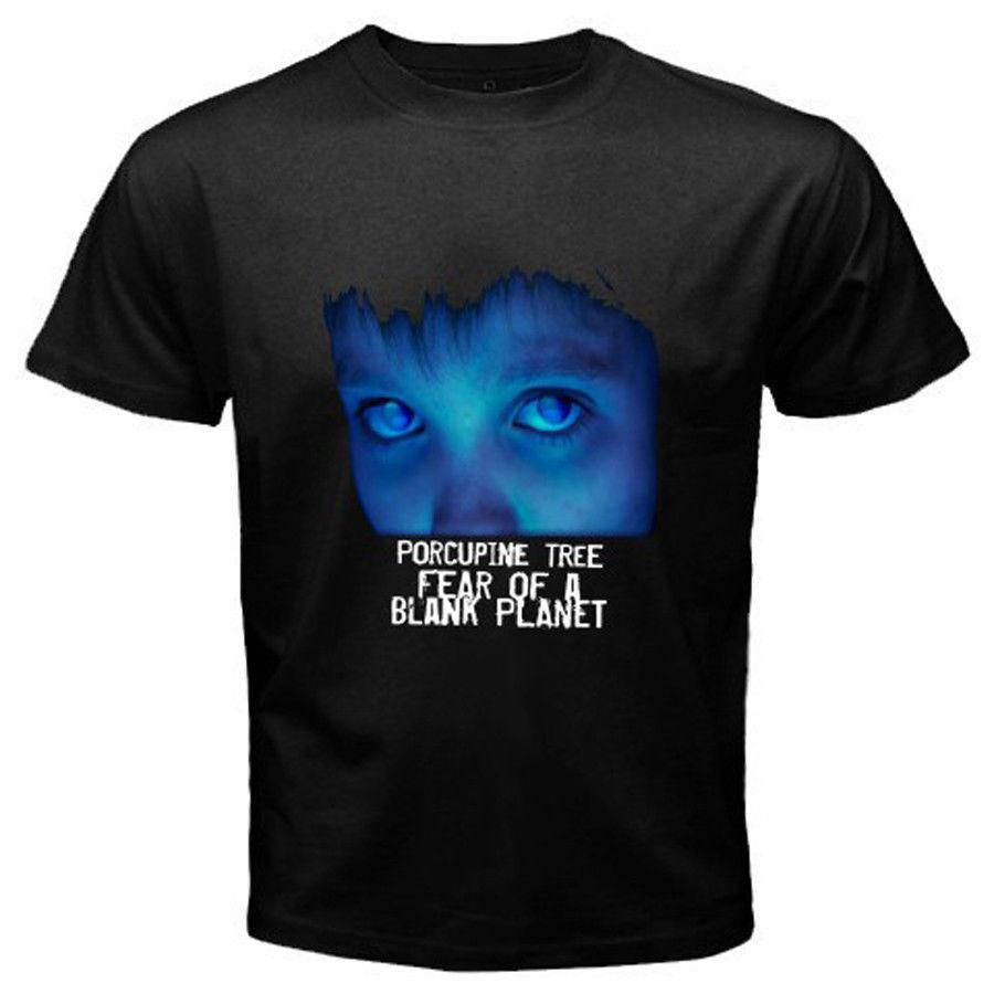 Porcupine Tree Fear Of A Blank Planet Rock Band White Black T-Shirt Размер S-2XL Хлопок Прохладный Дизайн 3d Tee футболки