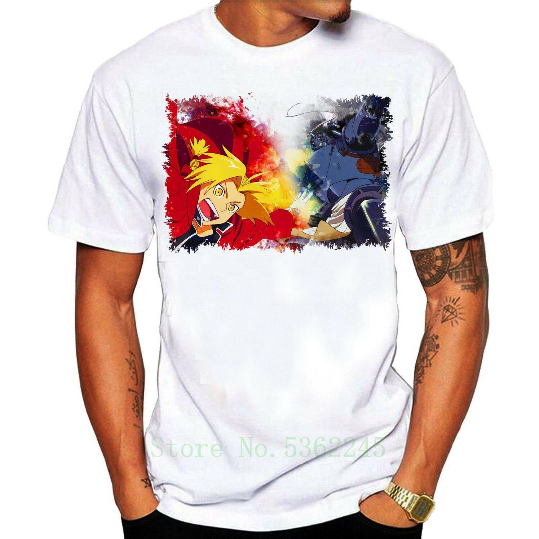 Fullmetal Alchemist-T-Shirt Anime-Shirt Baumwollbeiläufiges T Chistmas Unisex t487 Art und Weise Unisex-Stolz-T-Shirt Männer-Geschenk Kühle T-Shirt