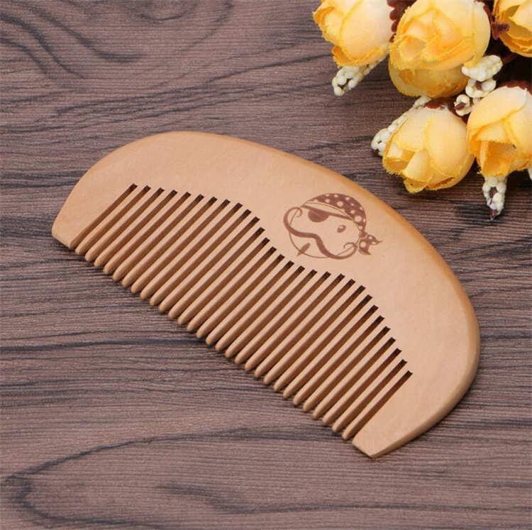 MOQ 50pcs Gewohnheit Ihr LOGO Holz Haare kämmen Bart Kamm Premium-Birnenholz Haarbürste Amazon heiße Verkaufs-Customized Barber Kamm Taschen Combs