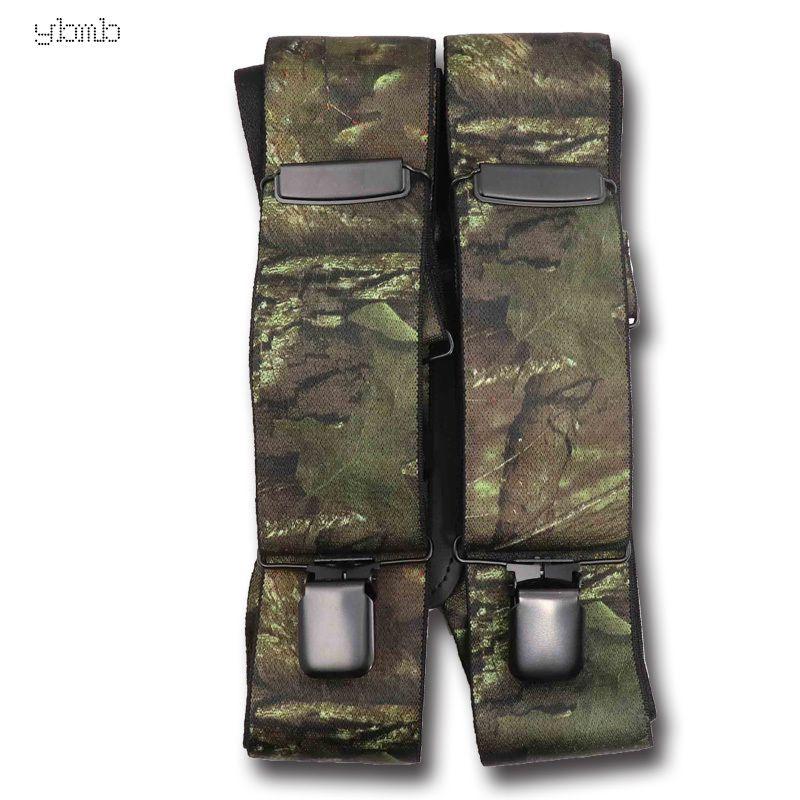Fornaio islamico modo della camicia mimetica bretelle Stampa elastico cinghia tattica X Forma 4 pistola nera clip-on Bretelles militari CX200813 50mmwidth