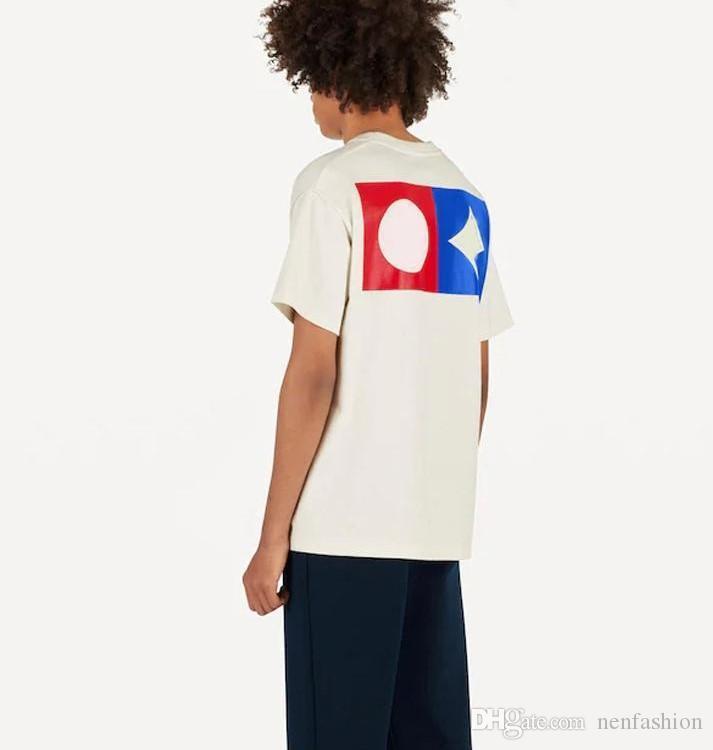2020 impresión de la letra de la camiseta Hombres Mujeres Negro Moda de verano blanco ocasional de la calle camiseta rayas de graffiti Diseñador camiseta blanca