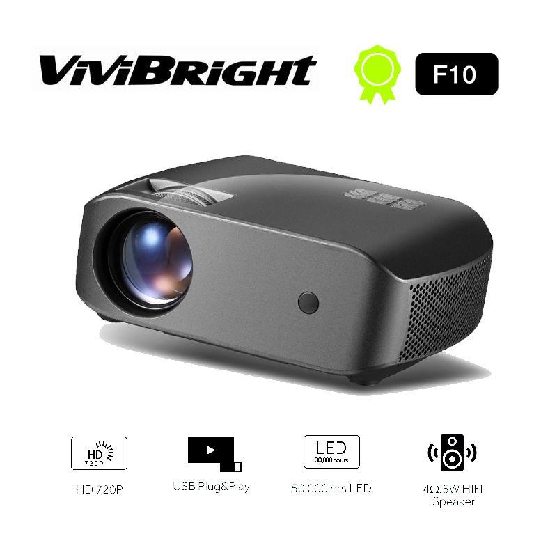 Mini Projektör F10,1280x720p, 2800 Lümen, 3d Hd Beamer, Led Projektör Home For Sineması. Destek 1080p Hd-in T190620