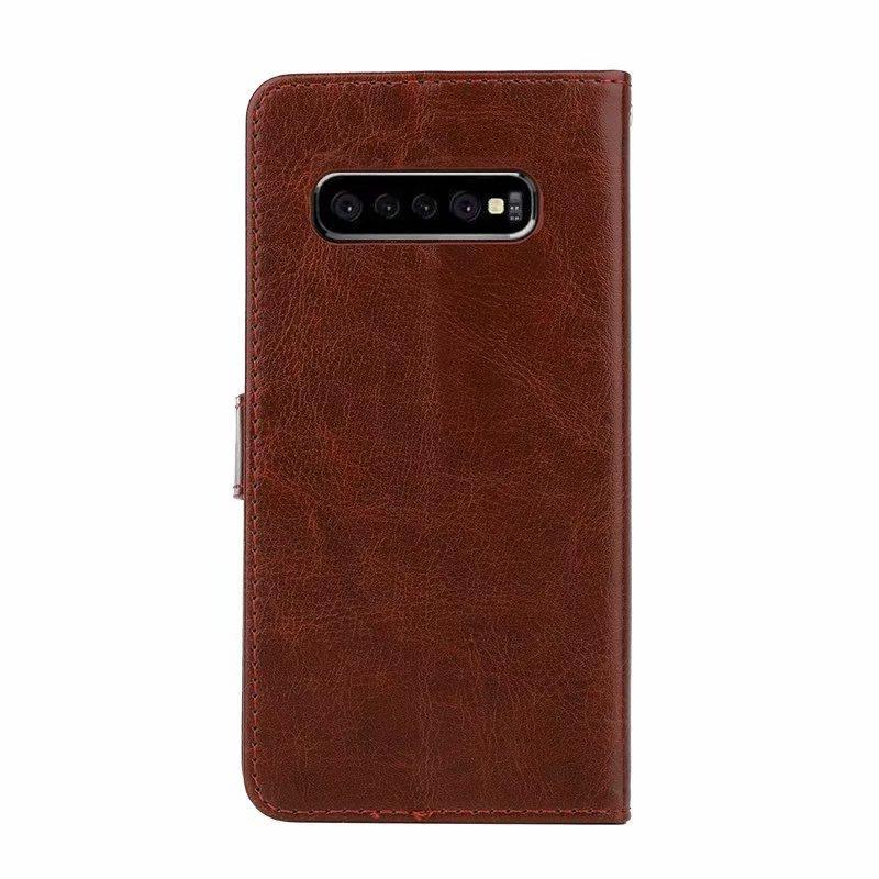 Pazzo portafoglio cavallo pelle PU telefono di caso per Samsung S10 5G e S9 più A10 A20 A30 A40 A50 M10 M20 M30