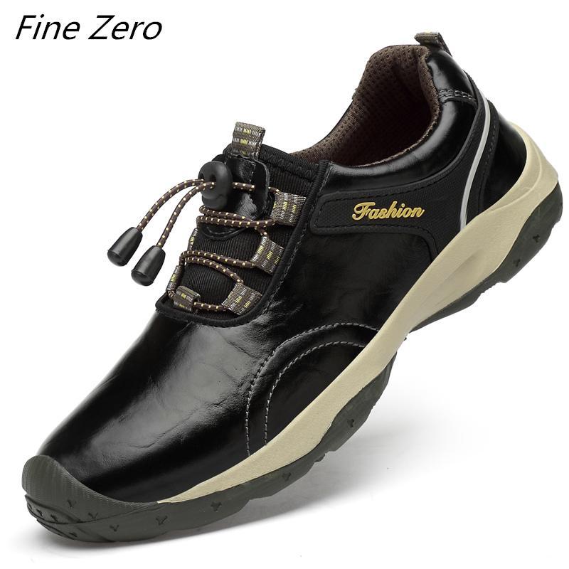 Новые мужские Водонепроницаемая Походные обувь Кожа Путешествия Обувь Открытый Нескользящие носить кроссовки мужчин Trekking Восхождение спорта