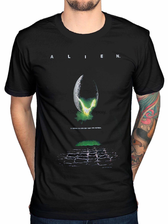 Poster T shirt Alien Ufficiale Spazio Egg Nostromoharajuku Streetwear shirt Mendallas Ellen Ripley Ripley