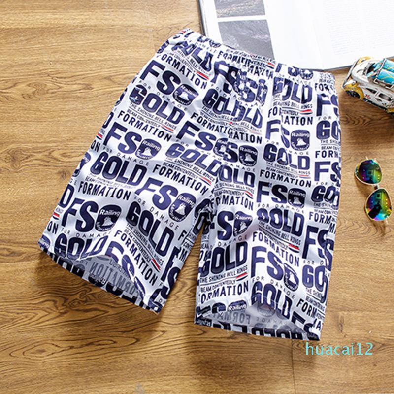 Hot Sale Fashion men's casual shorts summer beach pants quick-drying shorts men's coconut printed casual five-point pants New recommended