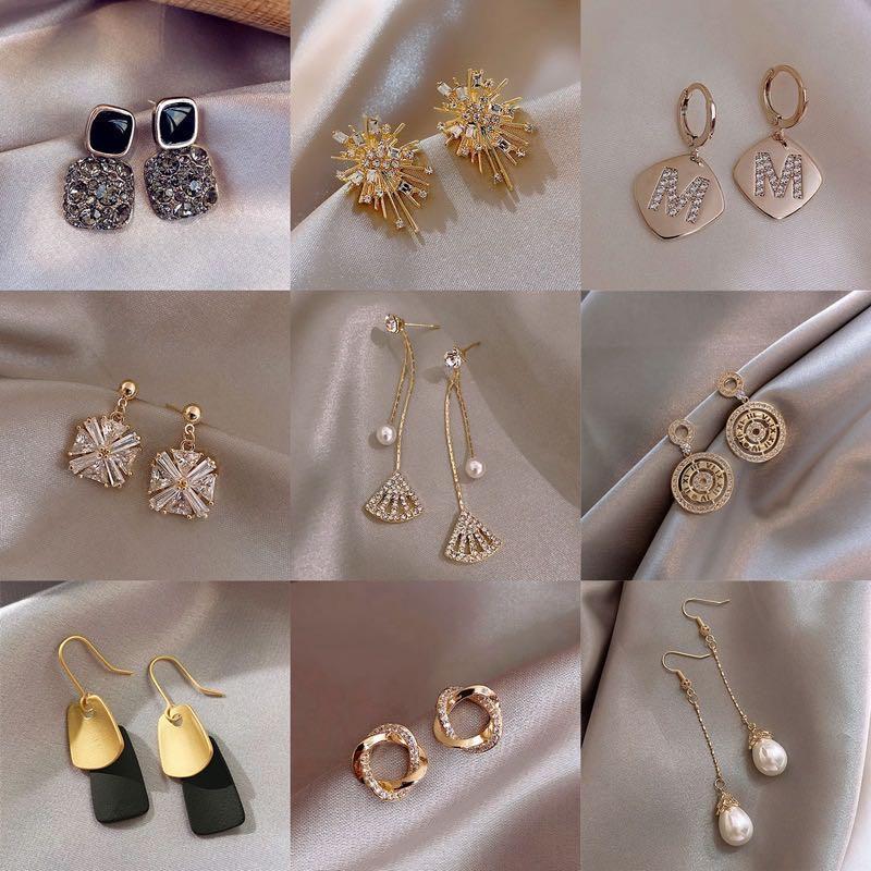 925 brincos de prata Natural Crystal Atacado moda pequena jóias de prata esterlina para mulheres garanhão homens ou mulheres brincos
