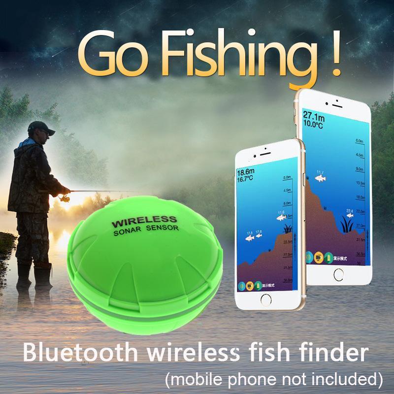 Neue Smart-Sonar-Sensor drahtloser Telefon Fischfinder portable Tiefe Sonar wasserdichte hd Fanggeräte Werkzeug ZF20081804