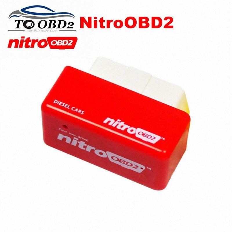 Yüksek Performanslı OBD2 ECU Chip Tuning NitroOBD2 Kırmızı Renk Dizel Otomobil Güç Motor Nitro OBD2 Dizel İnternet Teşhis Aracı rDp3 # arttırın