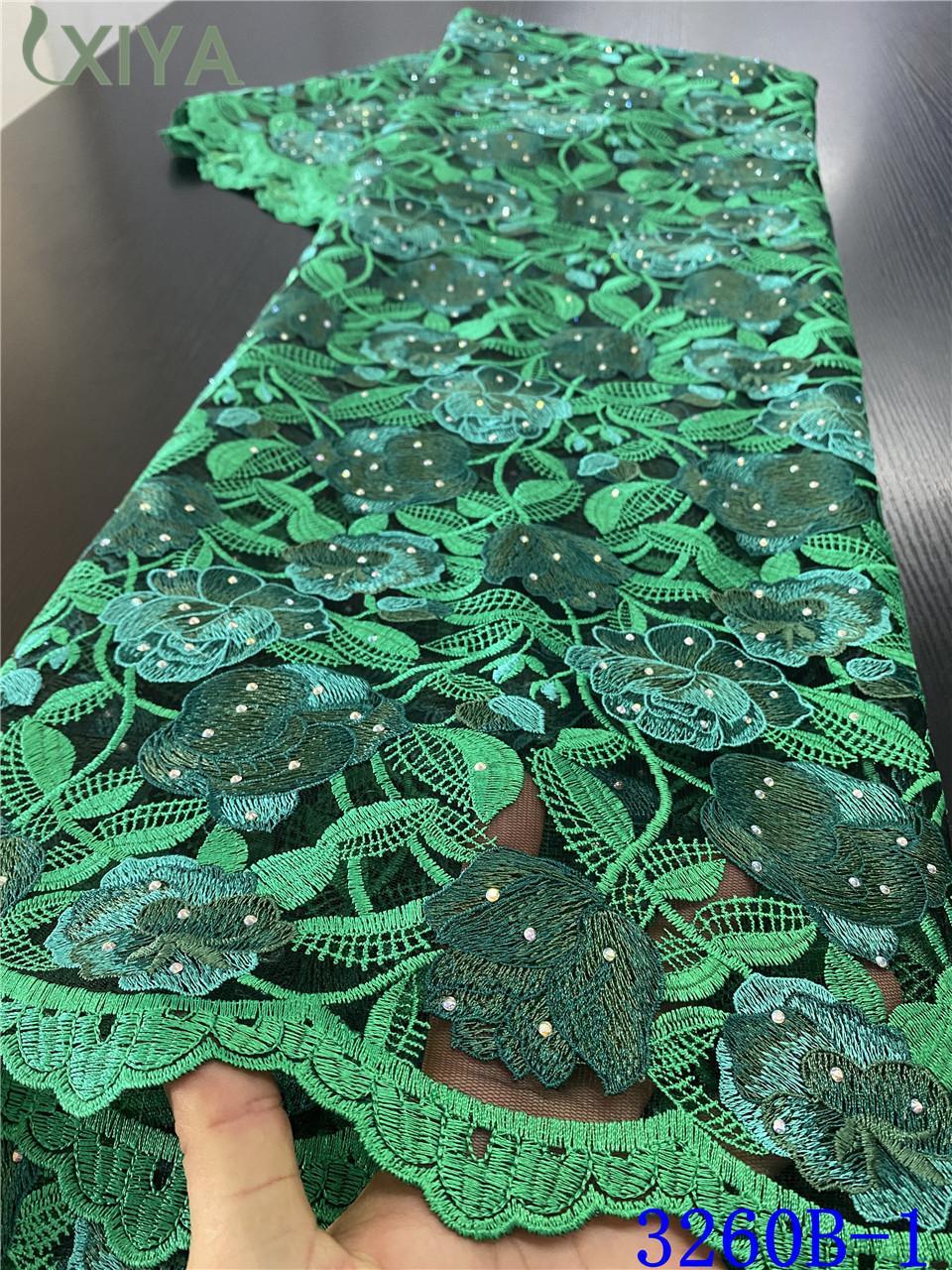 Últimas tela do laço verde Francês Tulle malha Laces Tecidos Africano com pedras bordado nigeriano Net Lace Tecido APW3260B