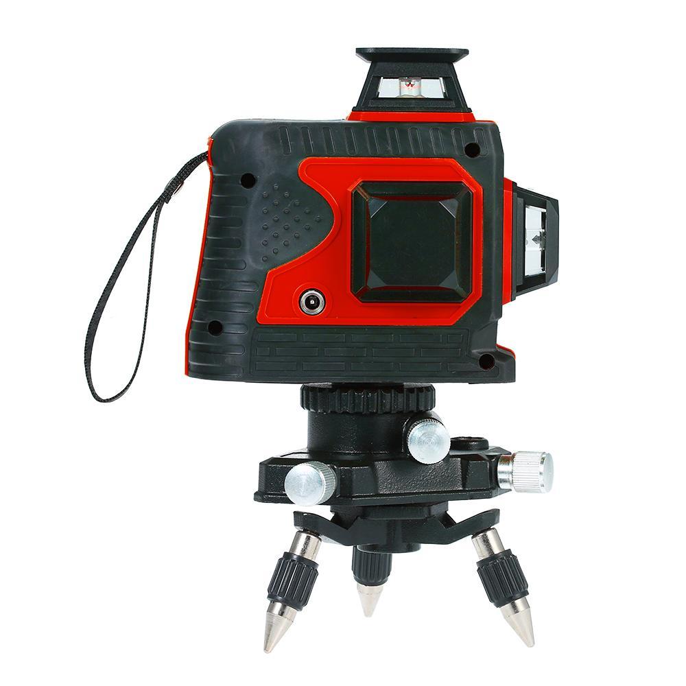 المهنية 12 خط أحمر مستوى الليزر متر التحكم اللمس التحكم الذاتي المستوى الليزر 360 أداة مع قاعدة محورية