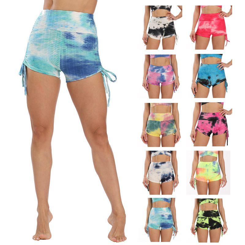 Ink Painting Fashion Bubble Yoga Shorts Print Push Up Leggings Sport Yoga Scrunch BuRunning Leggings Gym Tights Fitness Worko