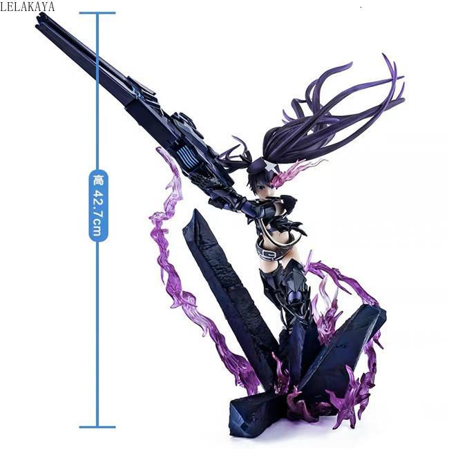 NEW японского аниме 42.7cm Black Rock Shooter INSANE Rampage Cannon ПВХ фигурка Коллекционная модель игрушка кукла Dropshipping