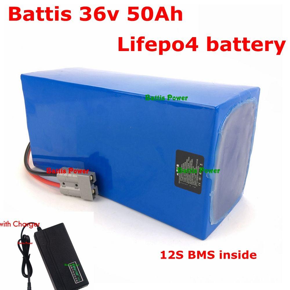 Tamanho compacto lifepo4 36v 50Ah bateria 40AH 35AH pack para poder RV armazenamento de energia solar ebike energia substituir akku + 43.8v carregador 10A