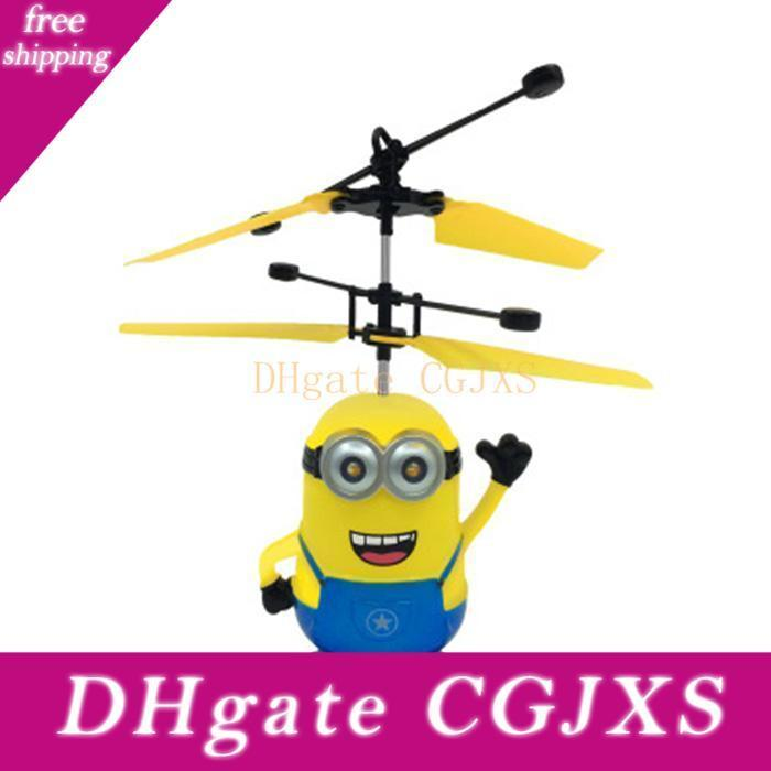 Rc Helicopter Drone Kids Toys Flying Ball Aircraft Led Flashing Light Up Toy Induction Electric Sensor For Children