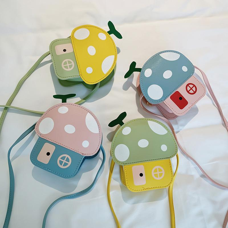 Girls Baby Bags 2020 New Fashion Cartoon Mushroom Shape Girl Packages Cute Toddler Children Kids Accessories