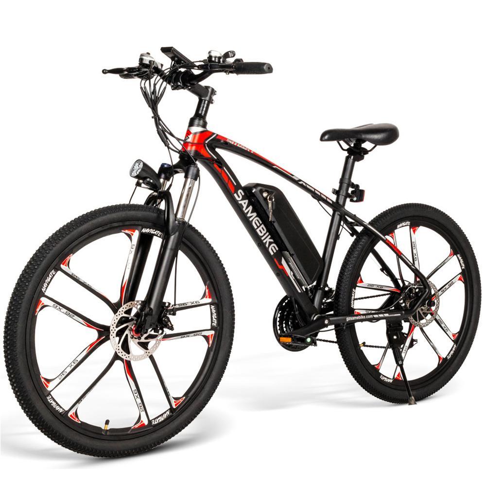 26 İnç Elektrikli Bisiklet Güç Samebike Elektrikli Bisiklet E-Bike 350W Motor Moped Bisiklet 48V 8AH Bisiklet Assist
