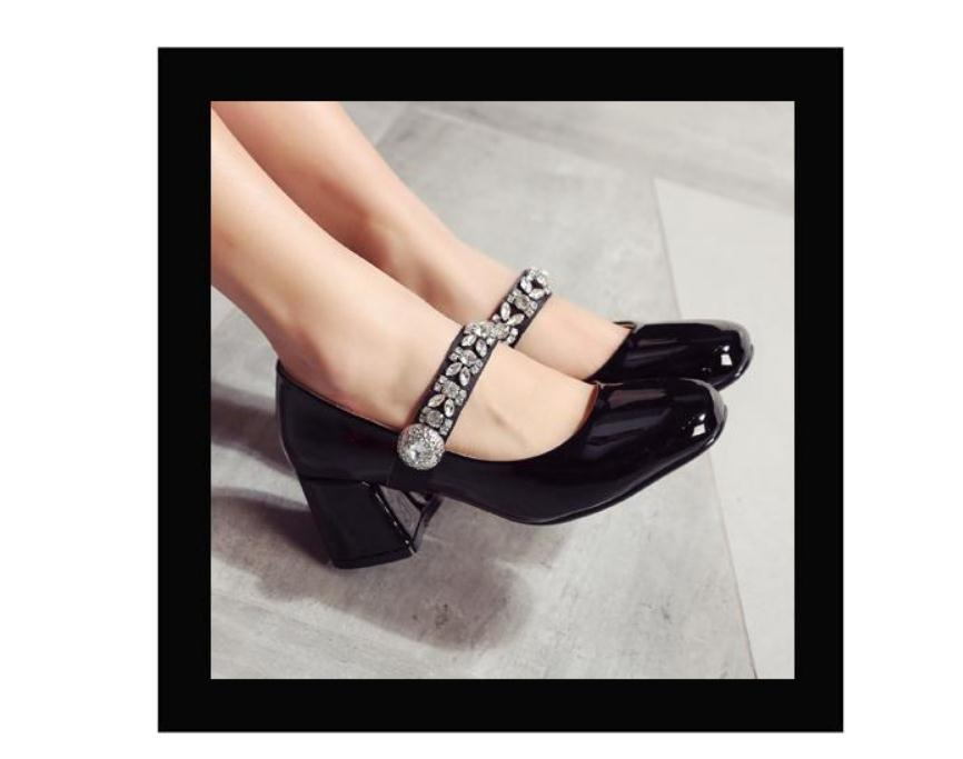 2020 Spring and Autumn with New style fashion High heel Coarse heel round head Women's shoes@ZX19