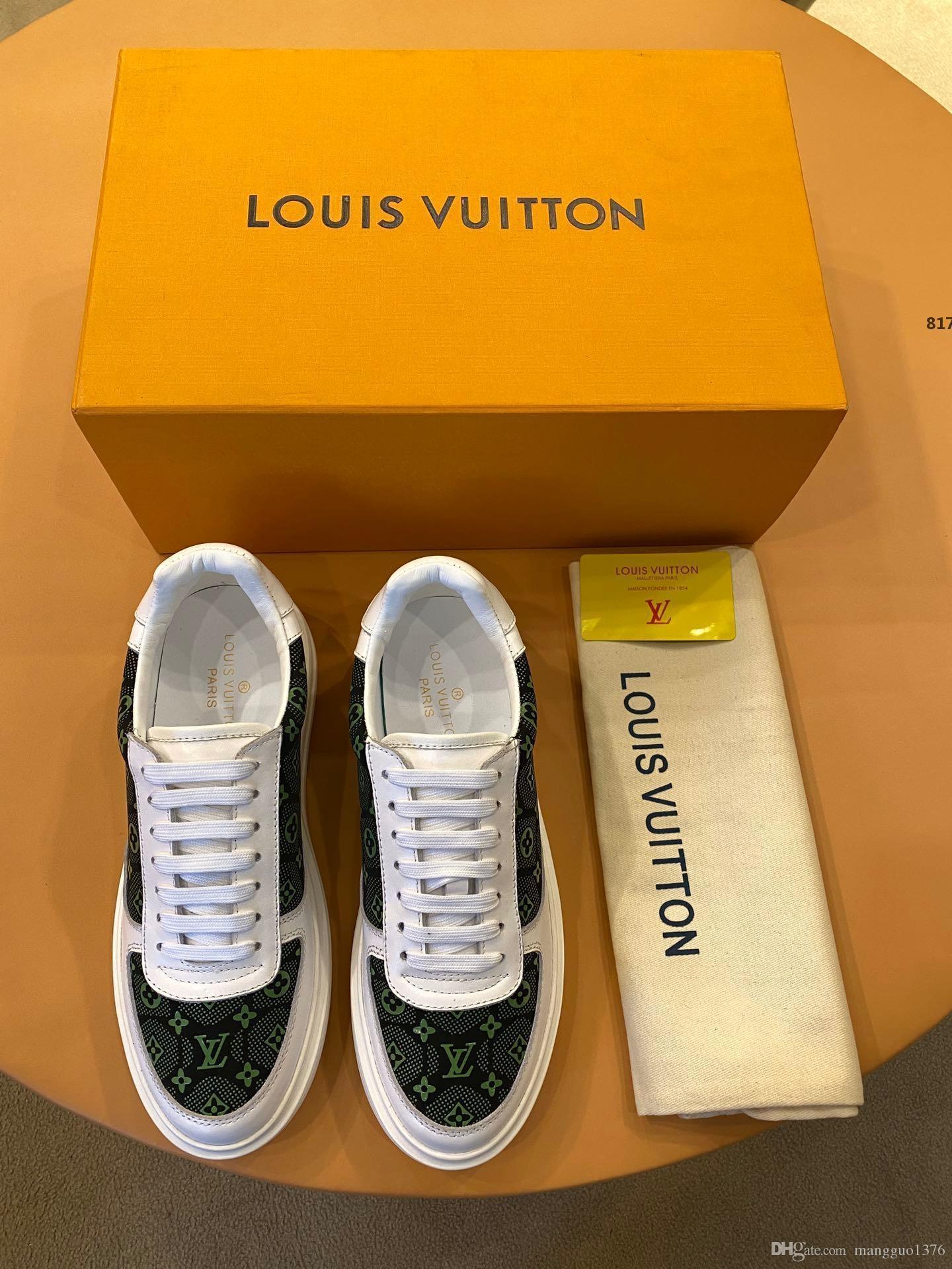 Luxus-Designer-817 2020 neue Männer-Schuh-Turnschuh-Lace-Up Top Fashion Casual Luxury Herren Schuhe Fußbekleidungen Origin-Kasten-Größe 38-45