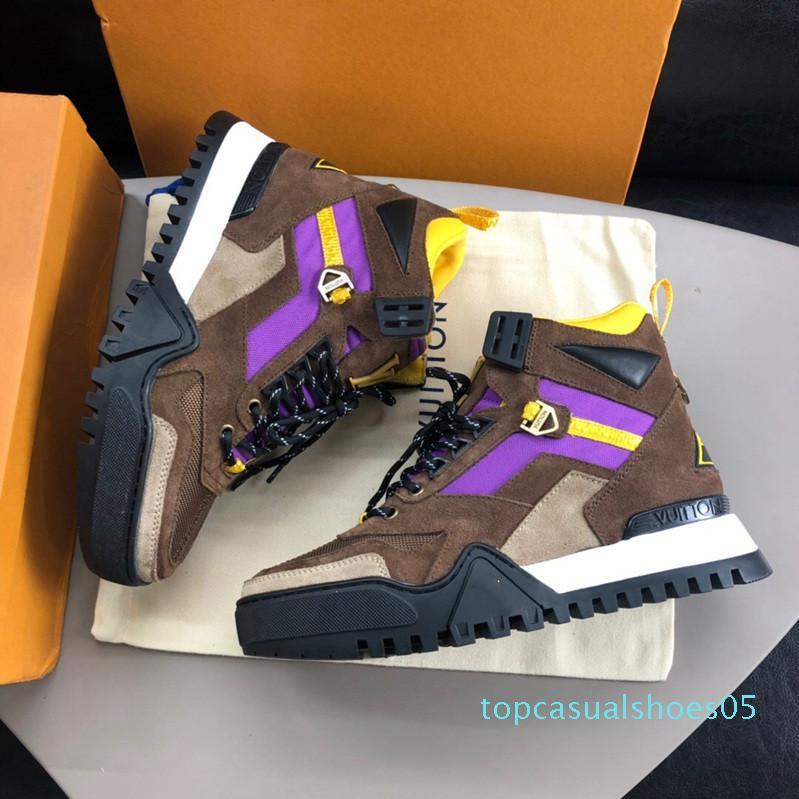2020 yeni lüks tasarımcı erkek ayakkabı markası moda YÜRÜYÜŞ SNEAKER erkekler Eğitmenler des chaussures Erkekler tasarımcı eğitmen lüks Lisesi'nin spor ayakkabılar t05