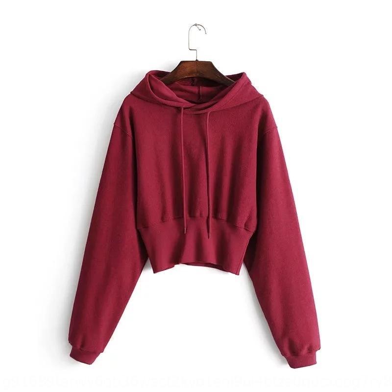 sottile vita alta maglione top giacca sportiva di Rml5G donne cappotto casuale con cappuccio maglione autunno e l'inverno delle donne