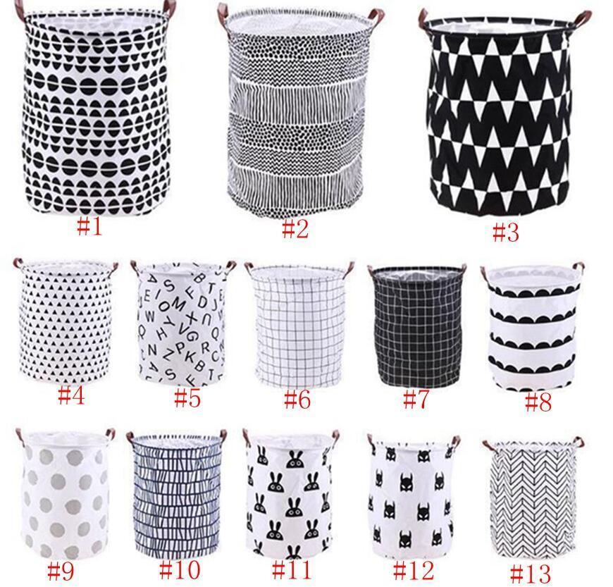 As roupas de armazenamento baldes Bins Crianças Toy Basket Bag Organizador Lavandaria saco de mão Canvas Storage Bag Lavandaria Grande armazenamento Totes