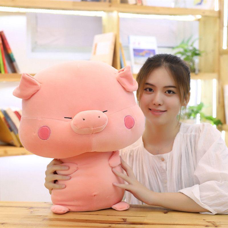 33/45 / 55cm cerdo lindo de la felpa Juguetes rellenos de cerdo chino del zodiaco muñeca encantador suave Animales Almohada para niños niñas niños regalos de cumpleaños MX200716