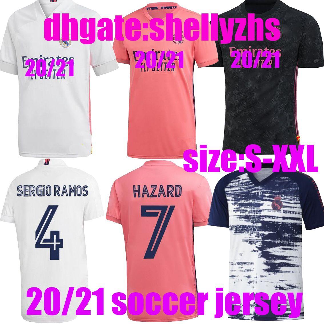 2020 Best Quality 2020 2021 Real Madrid Jerseys 20 21 Man Soccer Jersey Hazard Sergio Ramos Benzema Vinicius Camiseta Football Shirt From Shellyzhs 14 32 Dhgate Com
