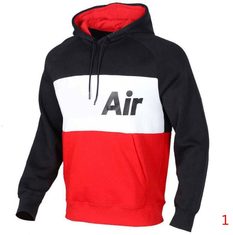 2020 Erkekler Sweatshirt için sadece Spor kapşonlu hırka Mektupları ile Nakış Sonbahar Aktif Streetwear Kapşonlu Homme Giyim 2 Renkler Boyut S-2XL