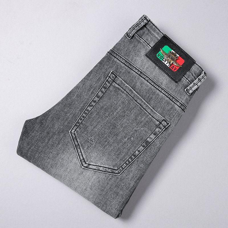 KH7Th 2020 cinza claro emblema distintivo moda slim calças ajuste tornozelo homens da moda tornozelo estilo burguesia lightpetty