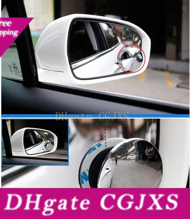 360 grados sin marco ultrafino Gran Angular redondo convexo punto ciego espejo para el estacionamiento del espejo retrovisor de alta calidad