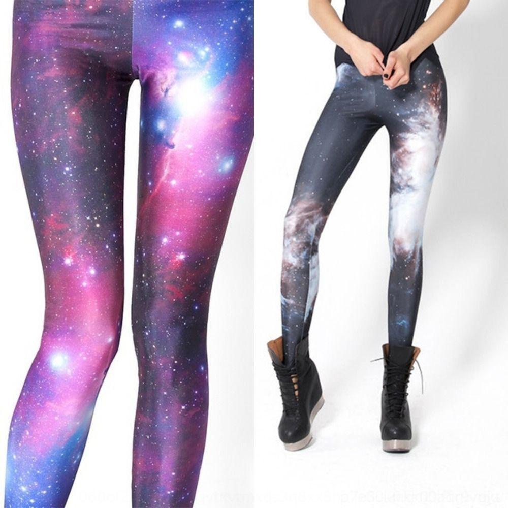 NHy55 Women's starry sky printed 3D pants printed sexy fitness leggings Tight Yoga digital yoga pants for women