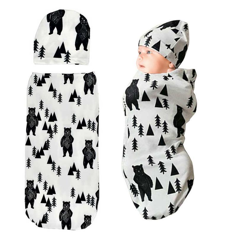 Temperaturregelung Warm Bequemer Gummizug und Antishock Baby Schlafsack Hut Set Kinder Schlafsack für alle Jahreszeiten
