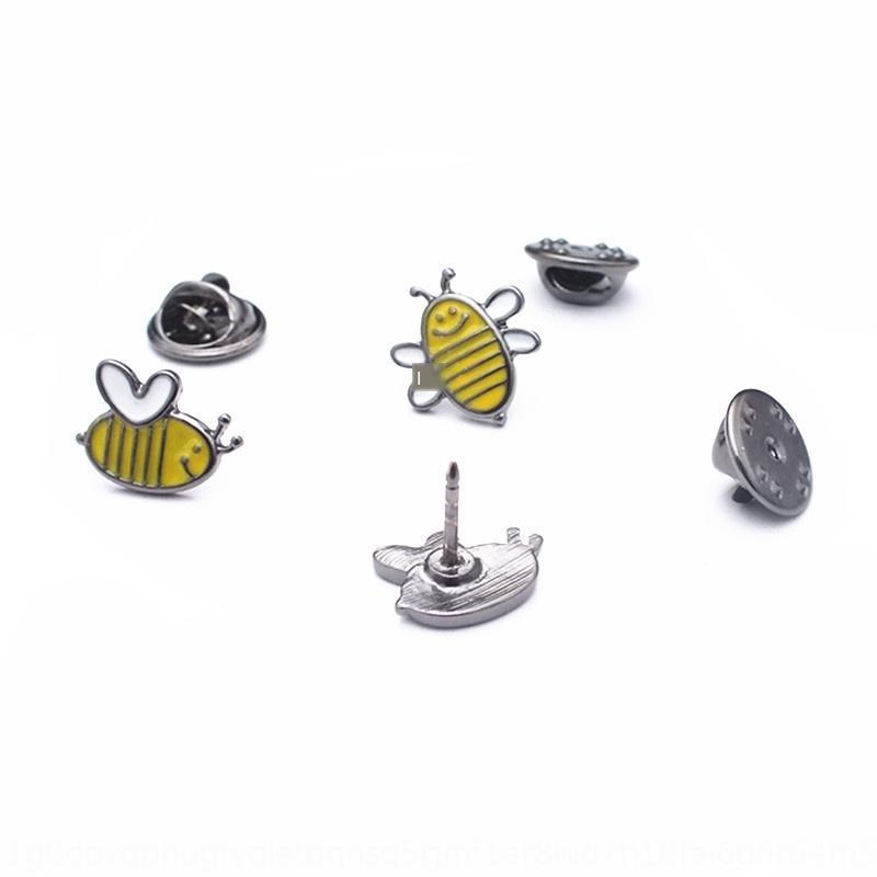 Qingdao distintivo de la joyería pequeña abeja niña goteo broche insignia lindo joyas decorativas