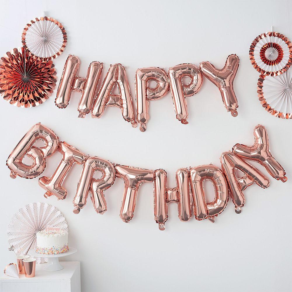 13 mutlu yıllar dekorasyon balonları altın harfler gül alüminyum folyo balonlar doğum günü partisi dekorasyon yıldönümü kutlama