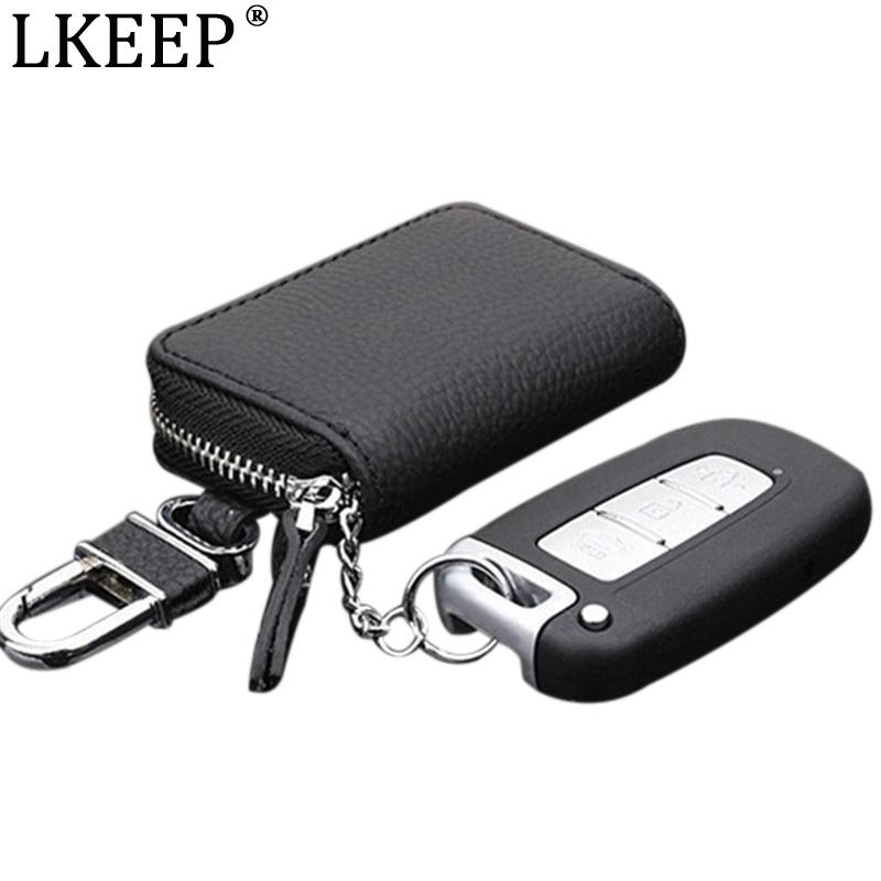 Sac en cuir clé porte-clés porte-clés Hommes voitures ménagers Key Keys organisateur Femmes PU Couvre Couvertures Titulaire Cas de fermeture à glissière Pochette Pochette Prkhf