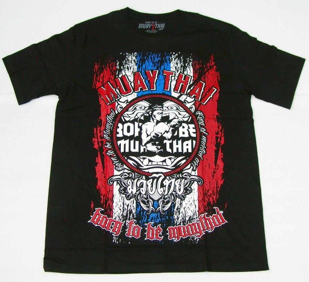 Adatti a nuovo T superiori magliette Top MUAY THAI T-shirt - nato per essere M.T. camicie -KickboxenT