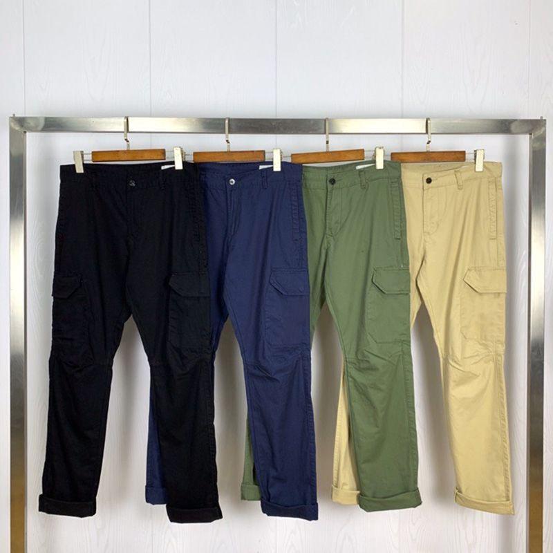 유명 캐주얼 바지 패션 남성 높은 품질의 바지 세련된 남성 힙합 단색 바지 4 색 크기 30-36