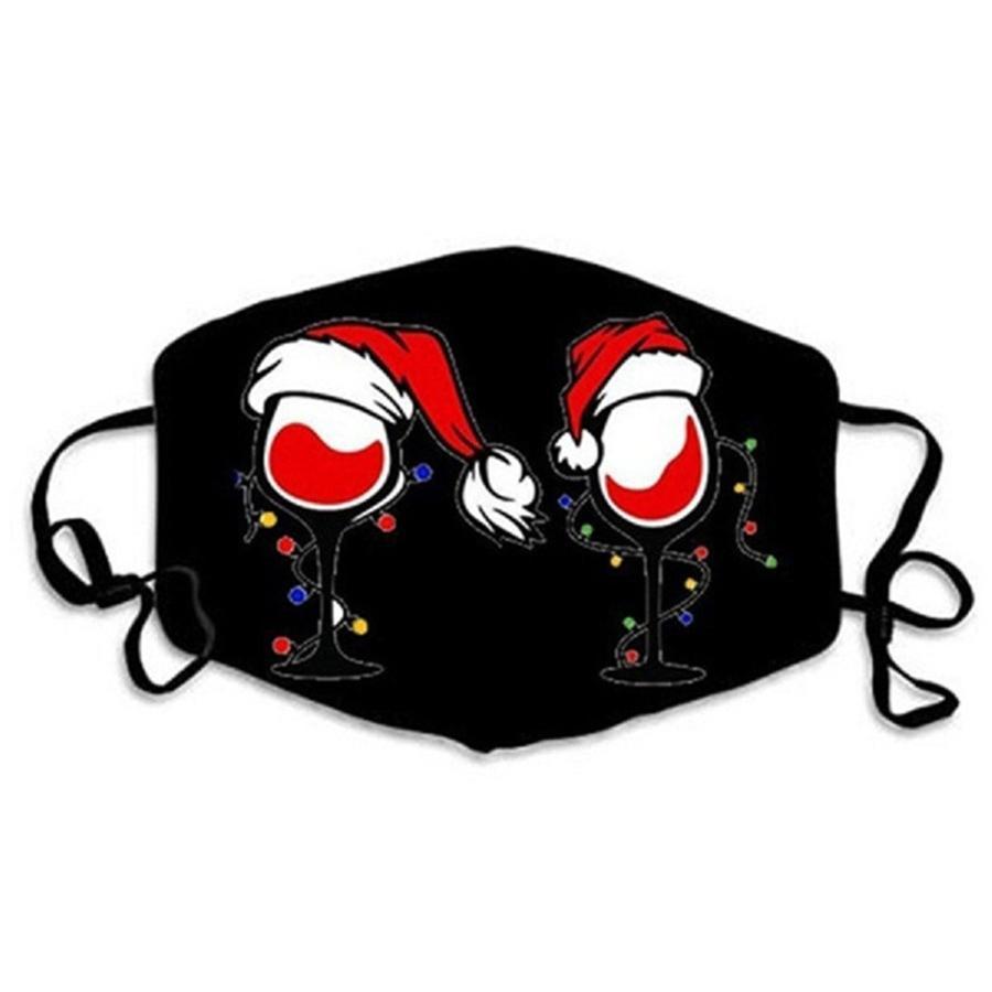 Cartoon Imprimé Lavable Masque Visage individuel Noir Cadeau Pac E Anti-bactérienne DustAnti # 234