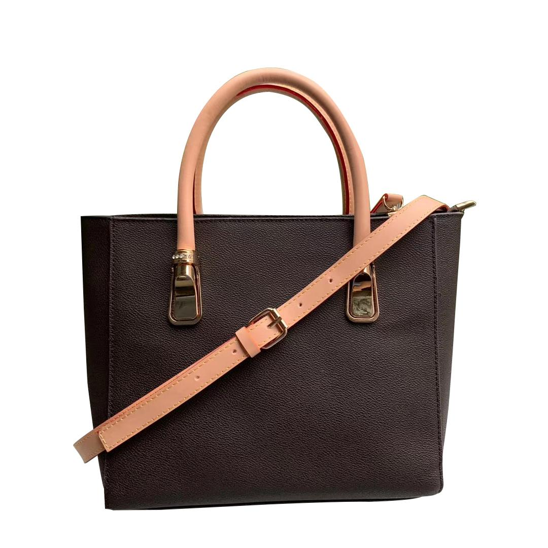 European fashionable fashions handbags pu couro marrom velha flor branca xadrez sacos de ombro crossbody bolsas grandes tamanho totes 3 cores 24cm