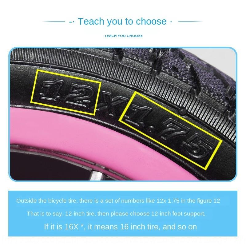 pé de bicicleta de 12 polegadas de 14 polegadas de 16 polegadas 4EGMe apoio pé de apoio rack de estacionamento equilíbrio suporte do carro bicicleta escada infantil